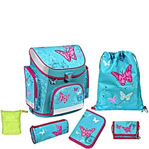 Школьный рюкзак Scooli Бабочка с наполнением (5 предметов) + дождевик