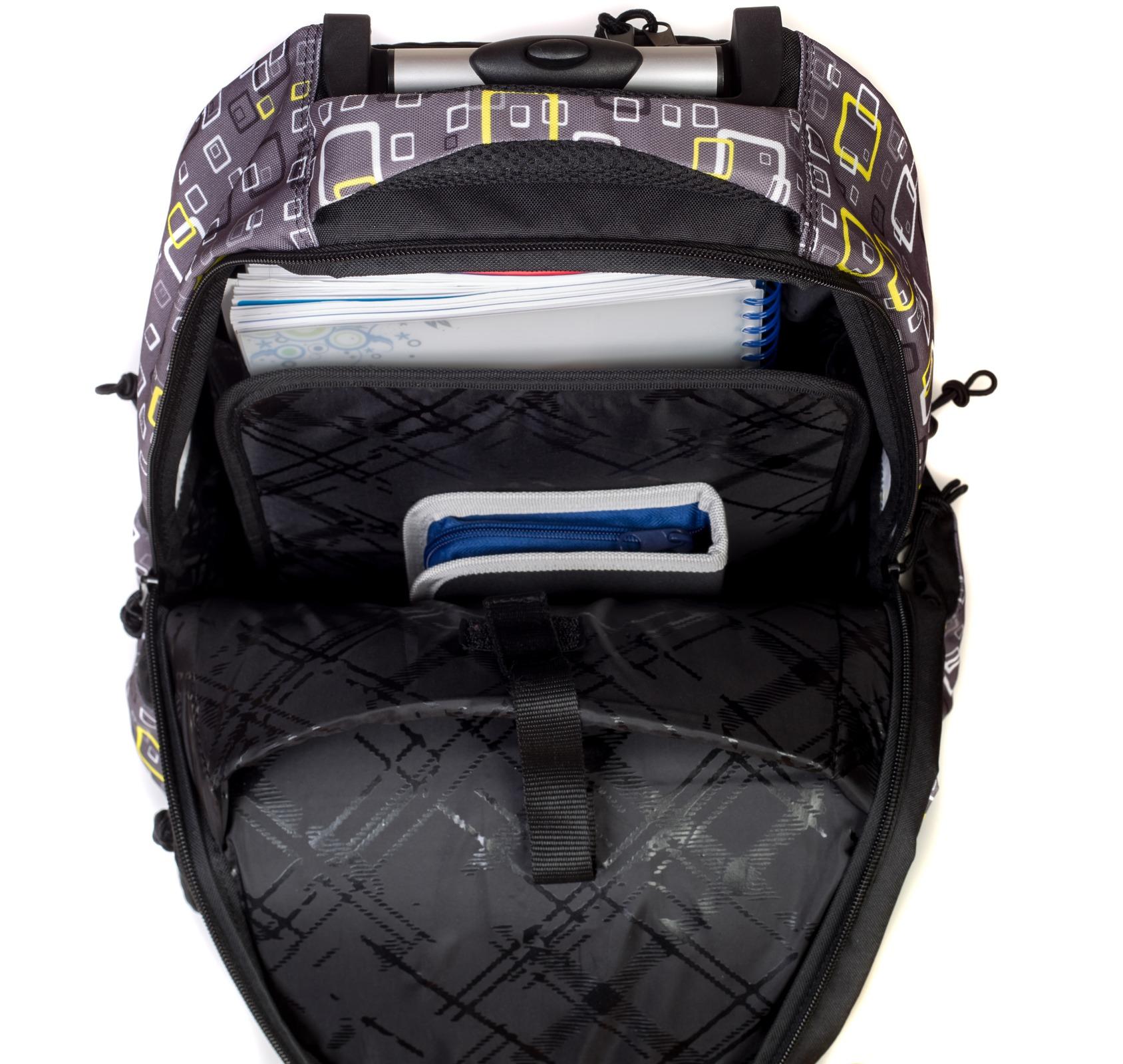 Рюкзак на колесиках с выдвижной с ручкой Belmil BLUE MAGIC 338-45/772, - фото 9