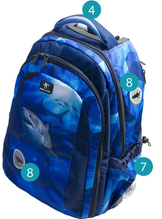 Рюкзак на колесиках с выдвижной с ручкой Belmil BLUE MAGIC 338-45/772, - фото 11